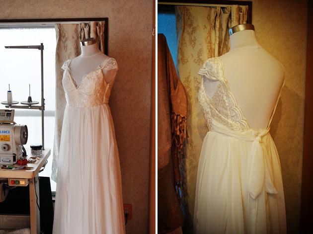 手作りウェディングドレス