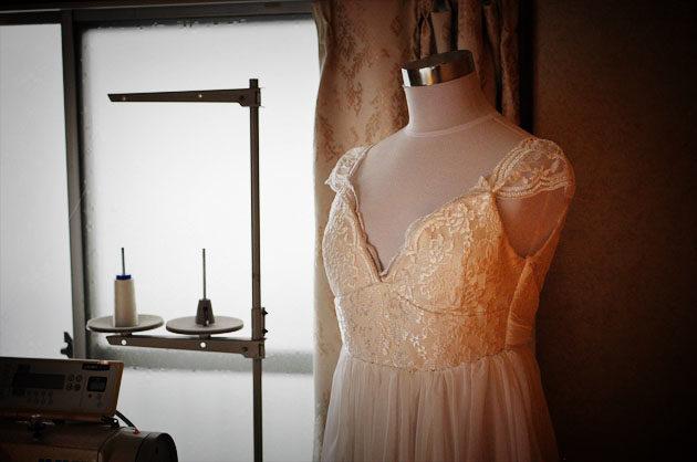 ドレス 製作風景