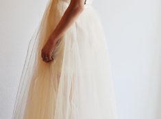 ゴールドレース ウェディングドレス