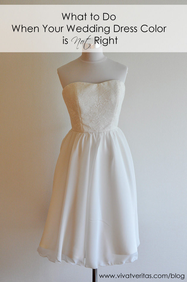 ウェディング ドレス 色変更
