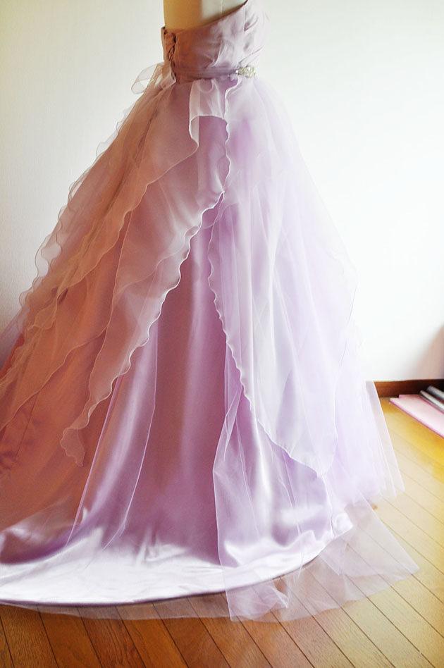 ラベンダー色 カラードレス