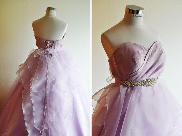 薄紫 カラードレス