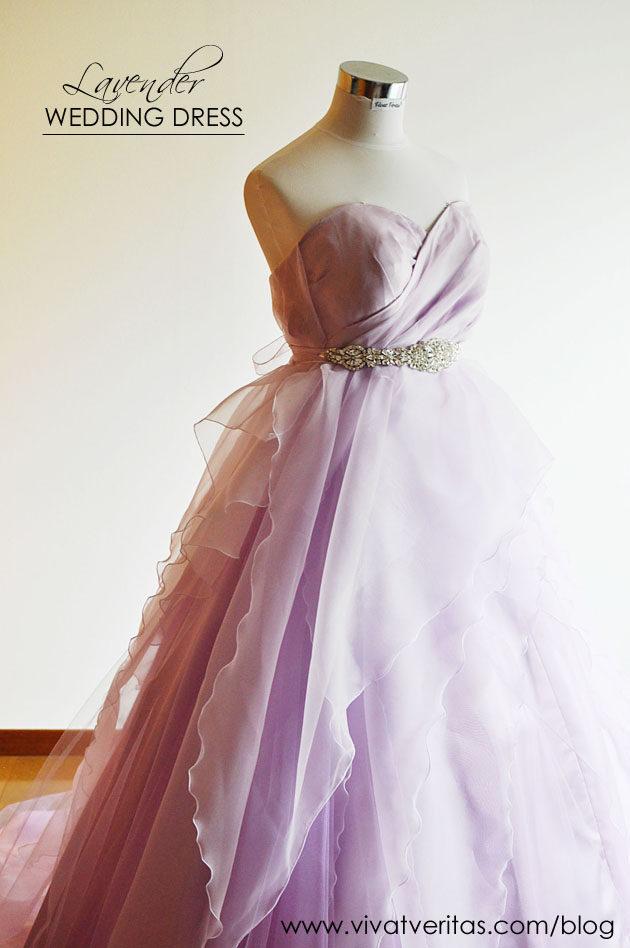 ビジュー付 パープルカラードレス