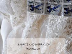 手作りウェディングドレス チュールレース