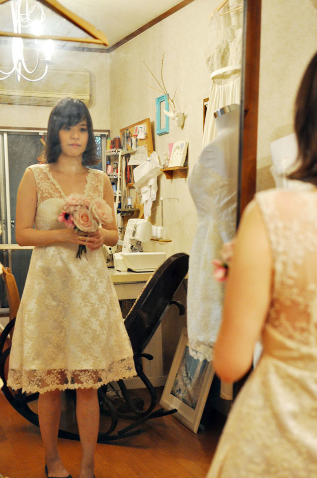 ドレス フィッティング 本縫い