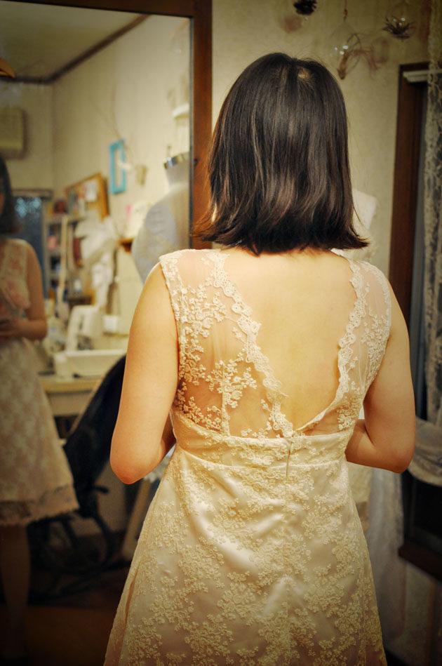 オーダーメイドドレス フィッティング