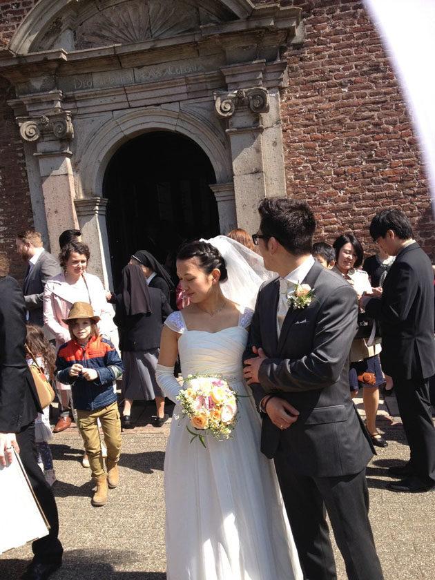 シフォン ウェディングドレス 海外挙式