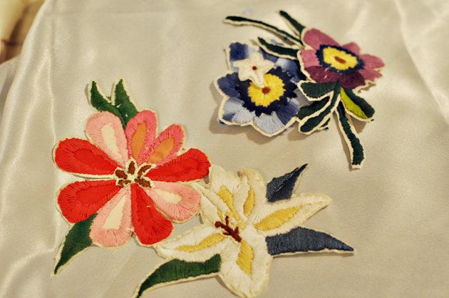お花 手刺繍
