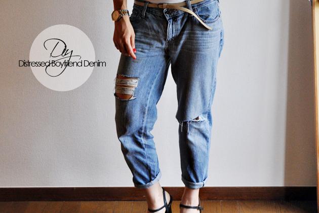 Diy Distressed Denim From Thrifted Jeans Vivat Veritas
