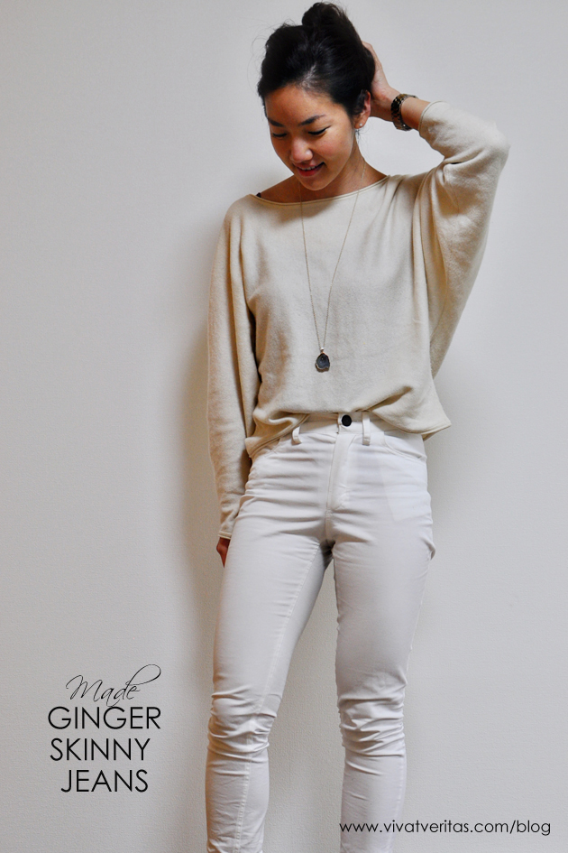 7ddaff77bc ginger skinny jeans in white twill by closet case files vivat veritas