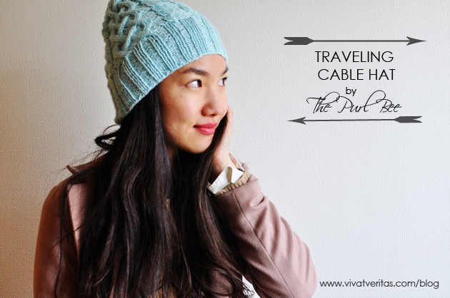 4ce44798083 Traveling Cable Hat by The Purl Bee Vivat Veritas
